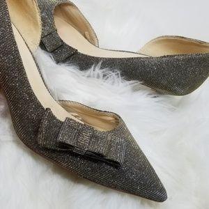 Nine West | Silver Gold Sparkle Formal Party Heels
